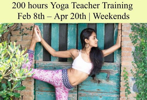 08 Feb – 20 April 2019, Weekend format ,  RYT-200 Yoga Teacher Training